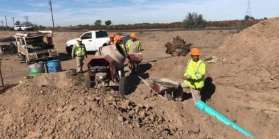 Llevarán servicio de drenaje a Campamento