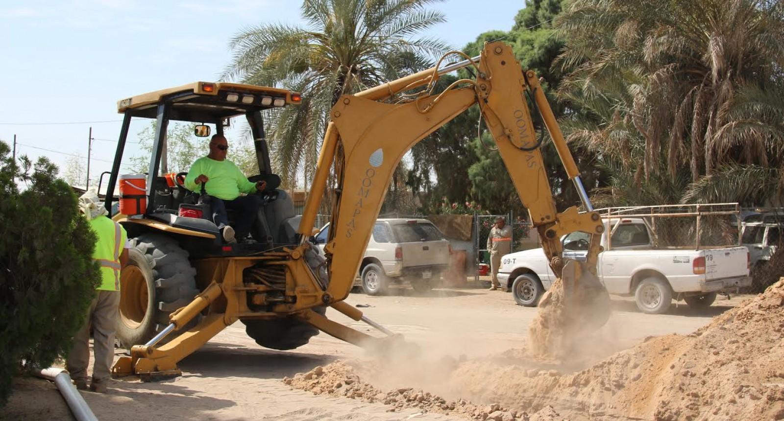 OOMAPAS realiza trabajos en avenida Durango; preparan pavimentación de la 26 a la 34