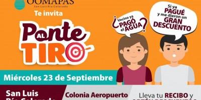 """Va a la colonia Aeropuerto """"Ponte al Tiro"""""""