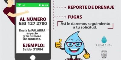 Ya cuenta Oomapas con servicio de whatsApp